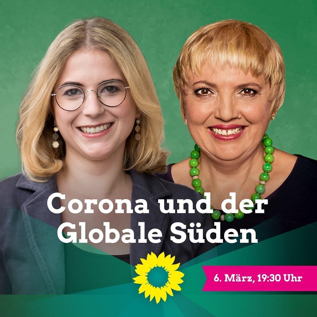 """""""Corona und der Globale Süden"""" – Diskussionsveranstaltung mit Claudia Roth & Dr. Franzisca Zanker"""